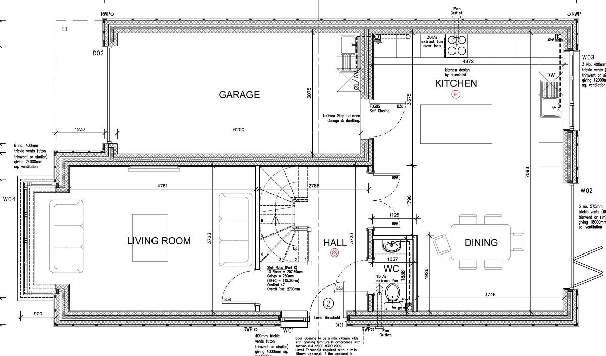 plot 2 Ground floor plan-min